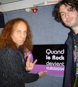Petite photo souvenir : Ronnie James Dio et votre serviteur lors d'un précédent Graspop Festival